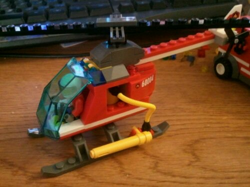 Lego 60004 fire helicopter